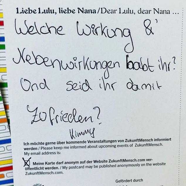 Schreibt Lulu und Nana. Experimentierfel