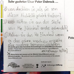 Rollentausch_ Post an Peter Dabrock. Bri