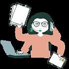 Travel planner à 4 bras avec ordinateur, courrier, téléphone, oreillette