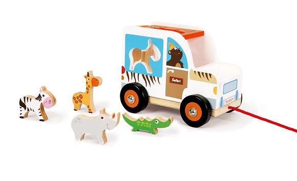 Camion à formes Safari en bois