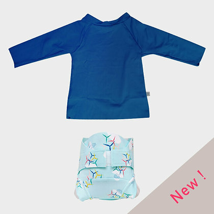 Combi couche piscine Eole / T-shirt anti-UV Nautilus (6-24M)