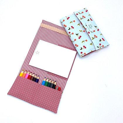 Etui de coloriage - bloc et crayons