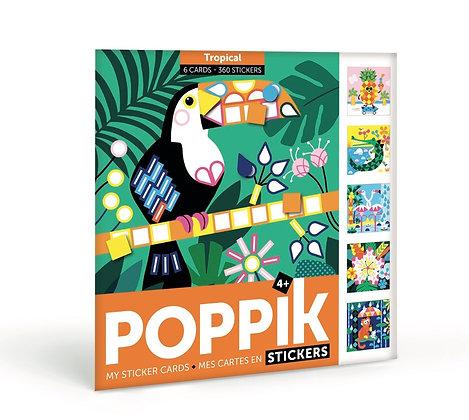 Cartes stickers - Tropical