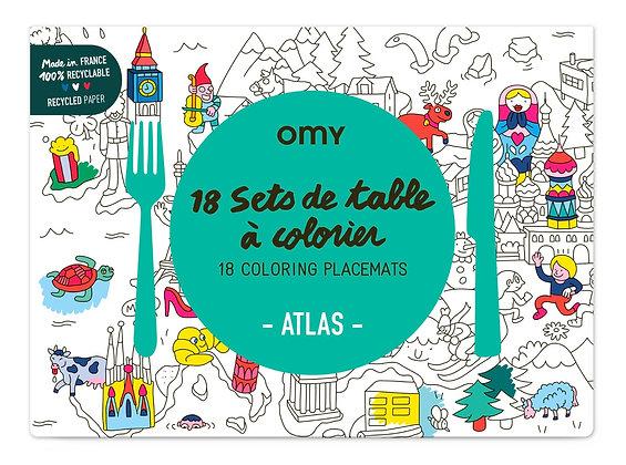 Set de table à colorier Atlas