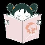 Petite fille qui lit un livre qui l'emmène en voyage grâce à son histoire