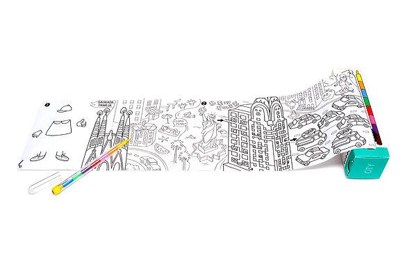 Jeux de poche et coloriage - City