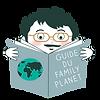 Papa qui lit un guide du family planet pour préparer ses vacances avec ses enfants