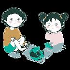 deux enfants assis chez eux autour d'un puzzle carte du monde