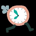 Horloge qui court après du temps qualitatif en famille