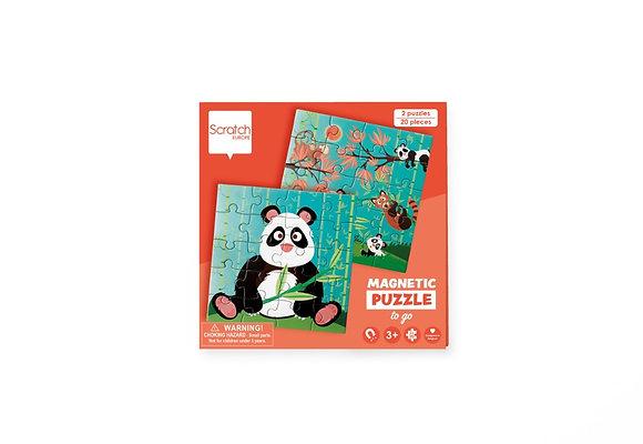 Livre puzzle magnétique Panda