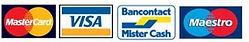 logos mastercard visa bancontact mister cash et maestro