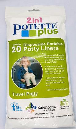 Pack de 20 recharges jetables pour Potette Plus