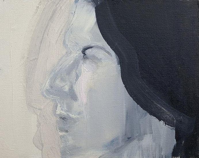 Judyta Krawczyk oil on canvas portrait marina abramovic buy art online gallery affordable art europe belgium polish