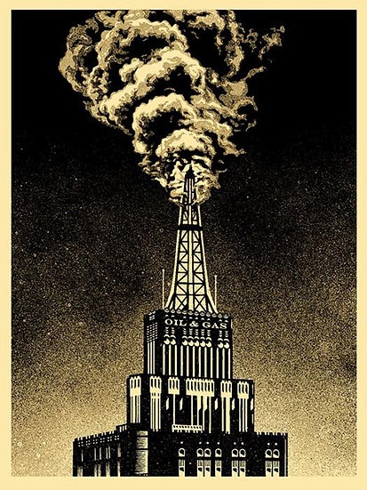 Shepard Fairey (Obey) - Oil & Gas Building - limited print