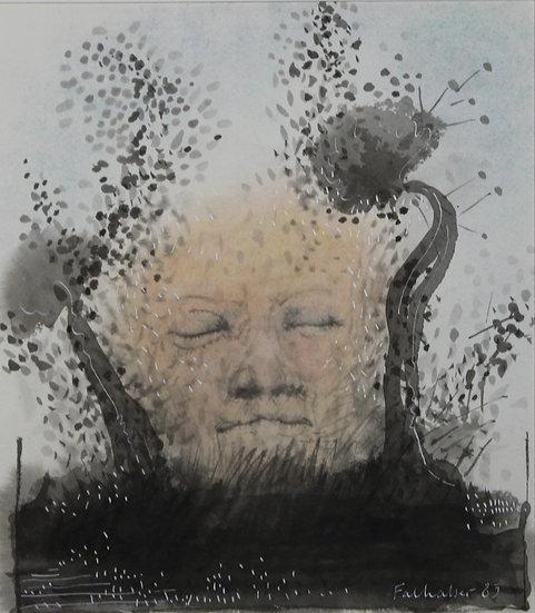 Falhaber, W. - Original watercolor 'Het Zwarte Water'