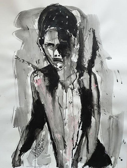 A Broken Universe It's all fading Acrylic Charcoal Signed and dated Buy art Online Affordable art Europe Dutch