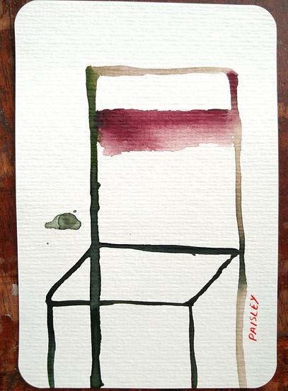 Ayna Paisley - original watercolor 13 (free delivery in EU)