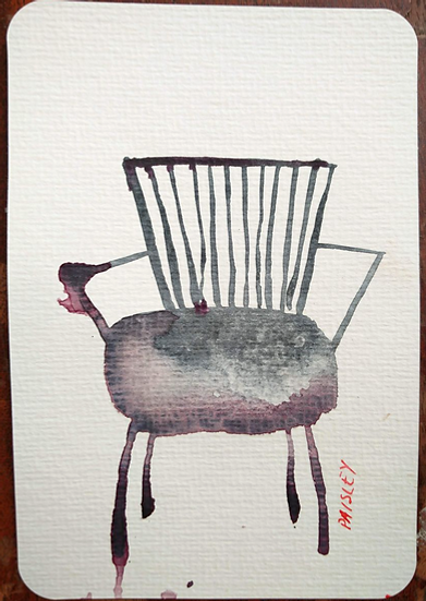 Ayna Paisley - original watercolor 8 (free delivery in EU)