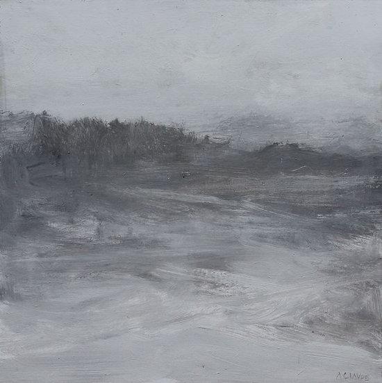 Alex Claude - Original work on panel Esquisse grise