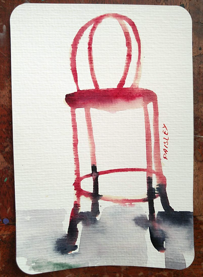 Ayna Paisley - original watercolor 5 (free delivery in EU)