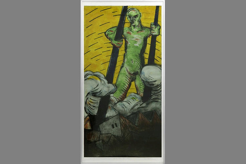 Fernando Lange Walton Chilean monoprint etching signed Krachtmens buy art online gallery affordable art europe belgium