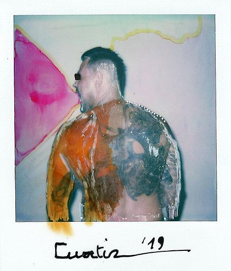 Curtiz Original Polaroid Tattoo Signed Kris De Meester Buy art Online Affordable art Europe Belgium