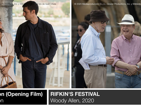 The world premiere of 'Rifkin's Festival', Woody Allen's new film, will open the 68th edition of the