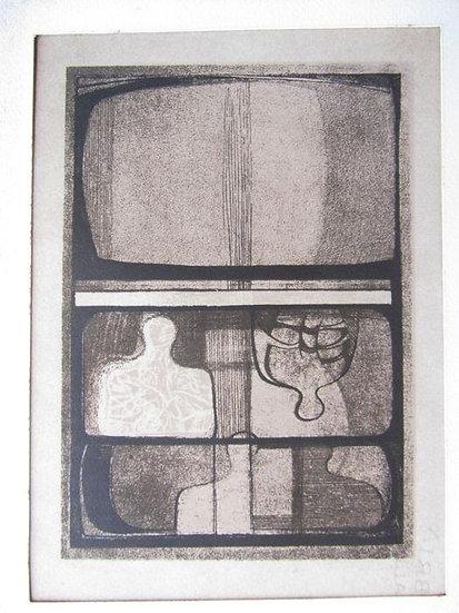 Federico Righi - Personaggi 1969 - Lithograph