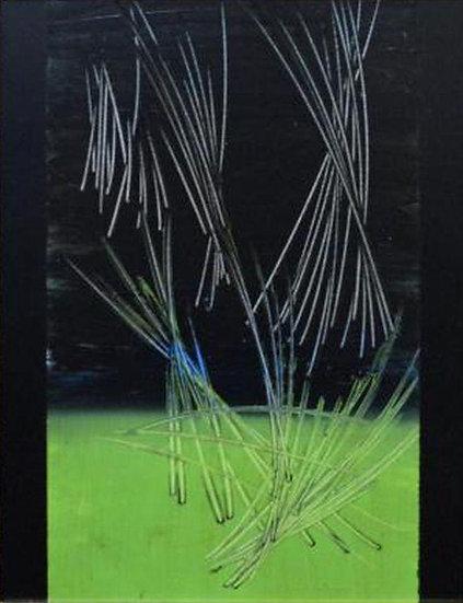 Hans Hartung - Original work on panel