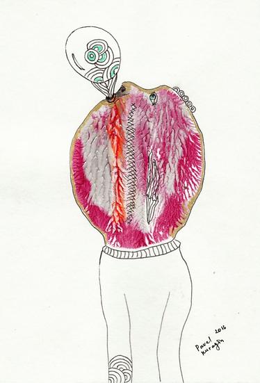 Pavel Kuragin - Ink drawing 'Bubble Gum'