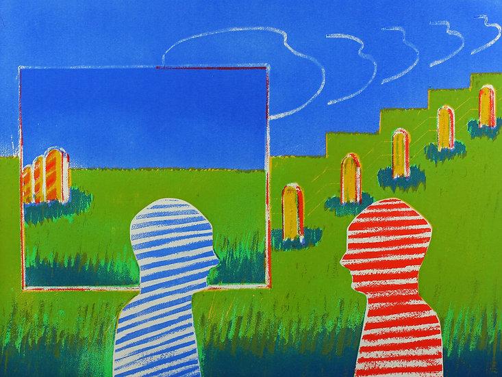 Herman Van Nazareth signed numbered vintage lithograph seventies buy art online gallery affordable art europe belgium