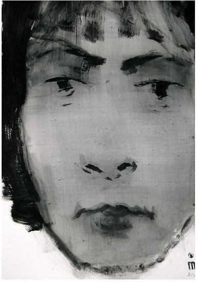 Michael Lentz - Head No. 221 - Large Original Drawing