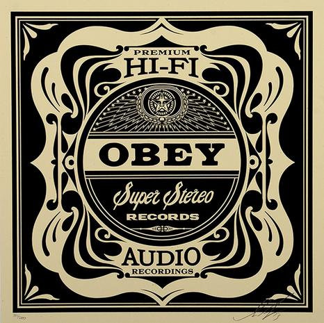 Obey Shepard Fairey Buy art online Super Stereo Screen Signed print Gallery Affordable art Europe Belgium
