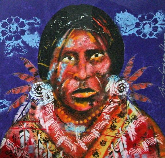 Espen Hagen - Geronimo (purple) - Hand signed graphic