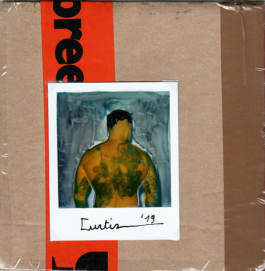 Curtiz Original Polaroid Mixed Media Signed Kris De Meester Buy art Online Affordable art Europe Belgium