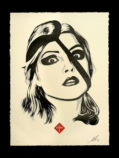 Obey Shepard Fairey buy art online Debbie Harry Doom Letterpress signed print gallery affordable art europe belgium