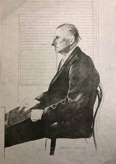 David Hockney - Portrait of Felix Mann - Hand signed lithograph