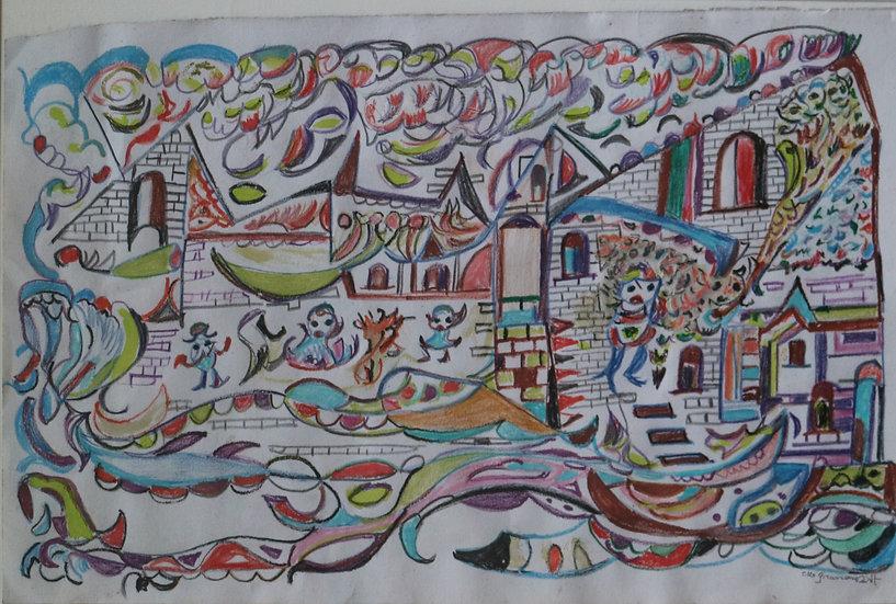 martha grünenwaldt drawing watercolor buy art online gallery affordable art europe belgium