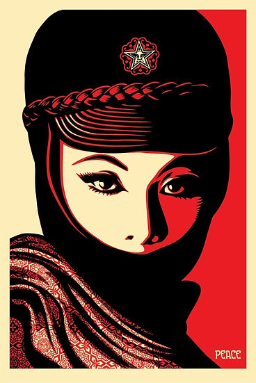 Obey Shepard Fairey Buy art online Mujer Fatale Offset poster Signed print Gallery Affordable art Europe Belgium