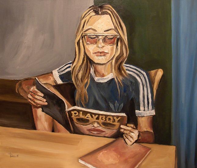 Thomas Pramhas - Oil Painting 'Playgirl'