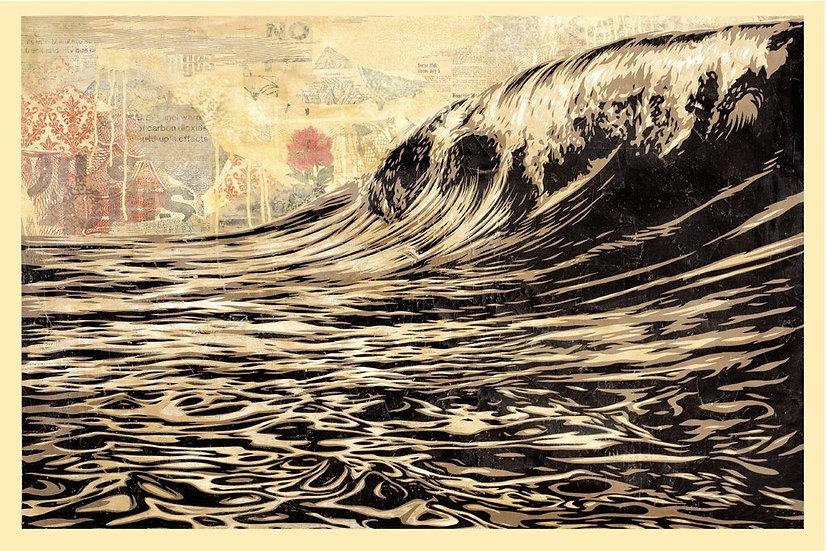 Obey Shepard Fairey Buy art online Dark Wave Offset poster Signed print Gallery Affordable art Europe Belgium