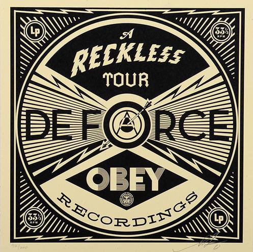 Shepard Fairey (Obey) - A Reckless Tour De Force - signed numbered rare print