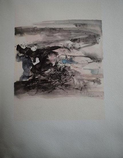 Zao Wou Ki - Illuminations - Signed print from 1966