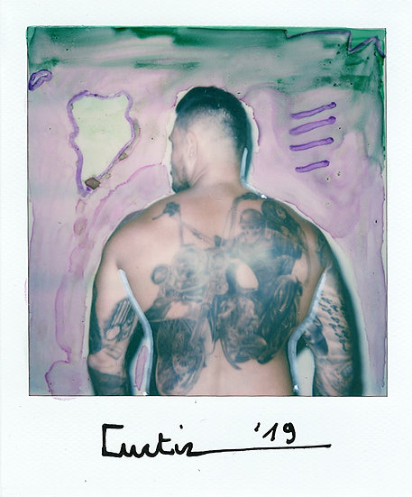 Curtiz Original Polaroid Tattoos Signed Kris De Meester Buy art Online Affordable art Europe Belgium