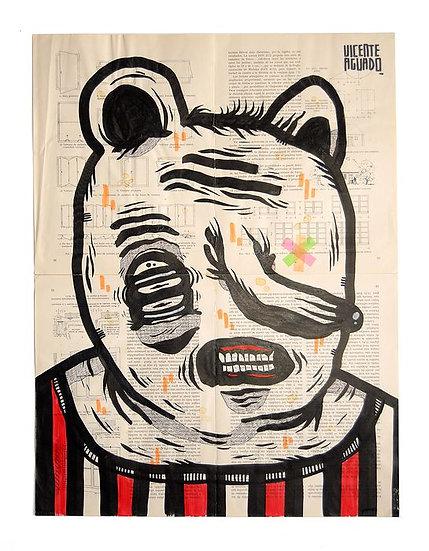 Vicente Aguado - Original work on paper 'Morgellons'