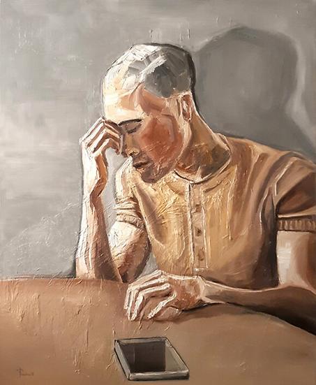 Thomas Pramhas - Oil Painting 'Sleepless'