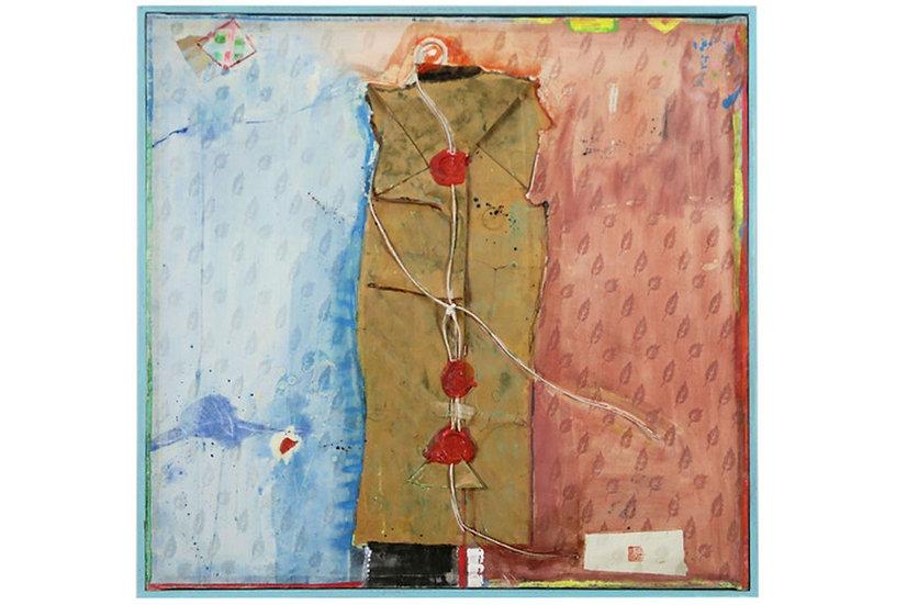 Kun Fang original mixed media work signed Belgium Europe buy art online affordable