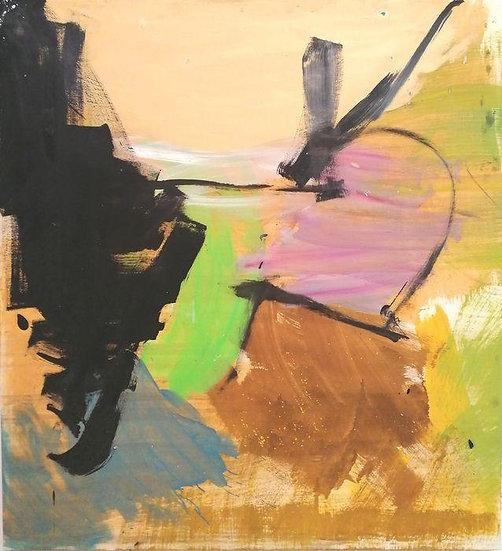 Davide Tedeschini - Cuore - original work on panel
