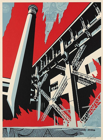 Obey Shepard Fairey buy art online Fossil Factory signed print gallery affordable art europe belgium