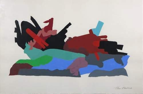 Henri Plaat gouache on Paper signed buy art online gallery affordable art europe belgium dutch